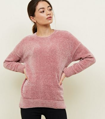 Petite Mid Pink Chenille Jumper