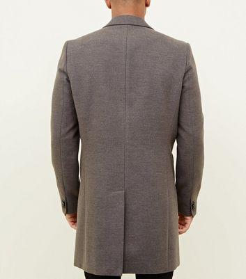 shop for Men's Grey Overcoat New Look at Shopo