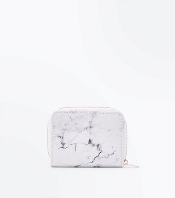 White Marble Effect Card Holder