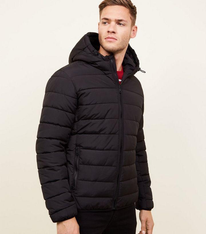 Black Hooded Puffer Jacket  0aa132c1da14