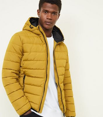 Yellow Hooded Puffer Coat
