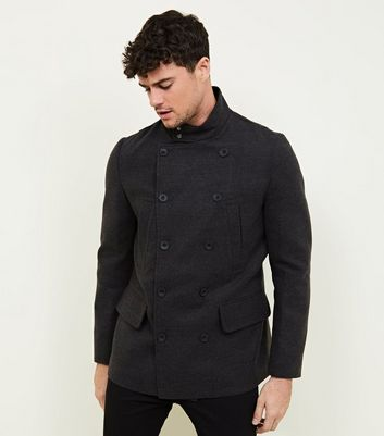 Dark Grey Military Coat