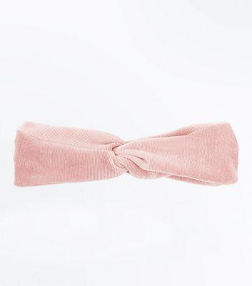 Pale Pink Cord Twist Knot Headband New Look