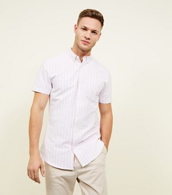 Pink and White Stripe Shirt