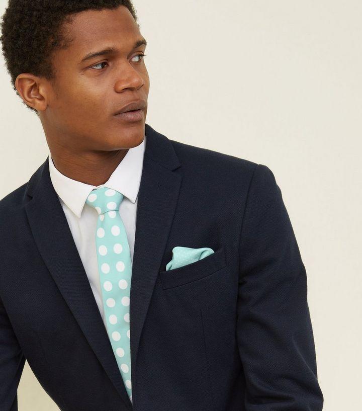 code promo pas cher grande vente Ensemble cravate et mouchoir de poche carré vert menthe à pois Ajouter à la  Wishlist Supprimer de la Wishlist
