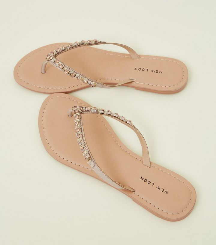 f74e9abbf ... Pink Leather Gem Strap Flip Flops. ×. ×. ×. Shop the look