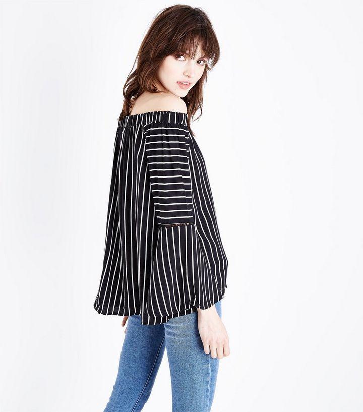 c91783c775b7ab ... Apricot Black Stripe Bell Sleeve Bardot Top. ×. ×. ×. Shop the look