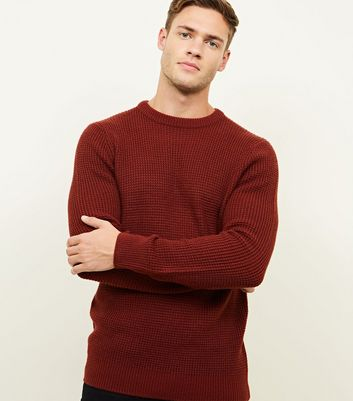 Rust Tuck Stitch Jumper