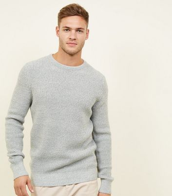 Pale Grey Tuck Stitch Jumper