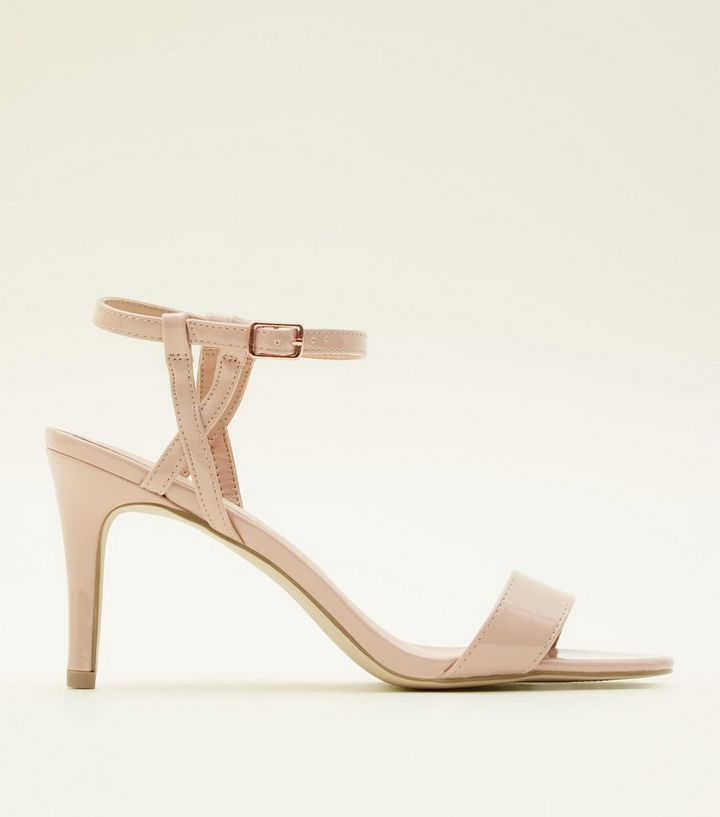 0078b42cfb8 Nude Patent Twist Strap Mid Heel Sandals Add to Saved Items Remove from  Saved Items