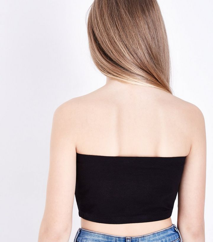 vente limitée images détaillées plus tard Teens Black New York City Bandeau Top Add to Saved Items Remove from Saved  Items