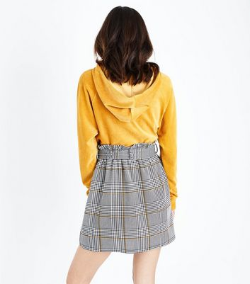 Tall  Black Check Paperbag Waist Skirt New Look