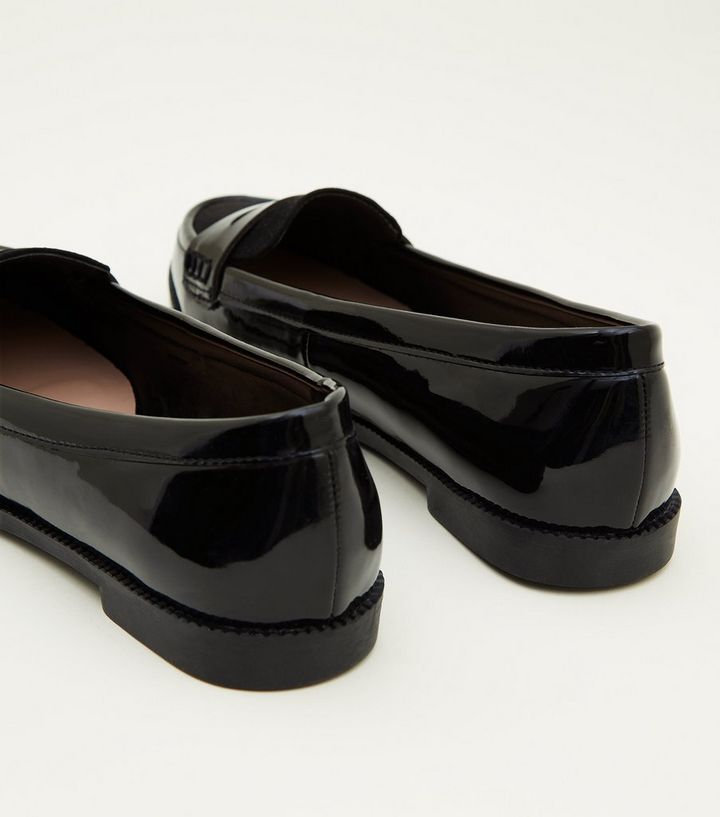 35d52f335f02 ... Girls Black Patent Suedette Trim Loafers. ×. ×. ×. Shop the look