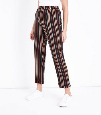 Multi Coloured Stripe Trousers New Look