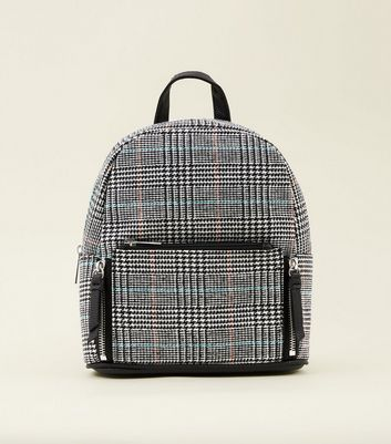 Black Check Mini Backpack