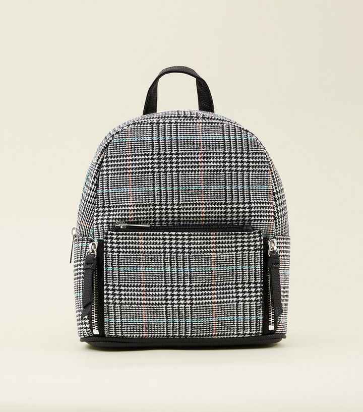 super specials Clearance sale fashion styles Black Check Mini Backpack Add to Saved Items Remove from Saved Items