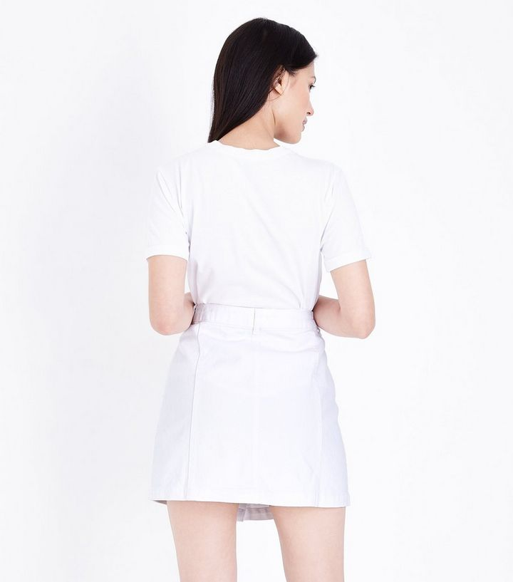1c624dd3c7 ... Petite White Button Front Denim Mini Skirt. ×. ×. ×. Shop the look