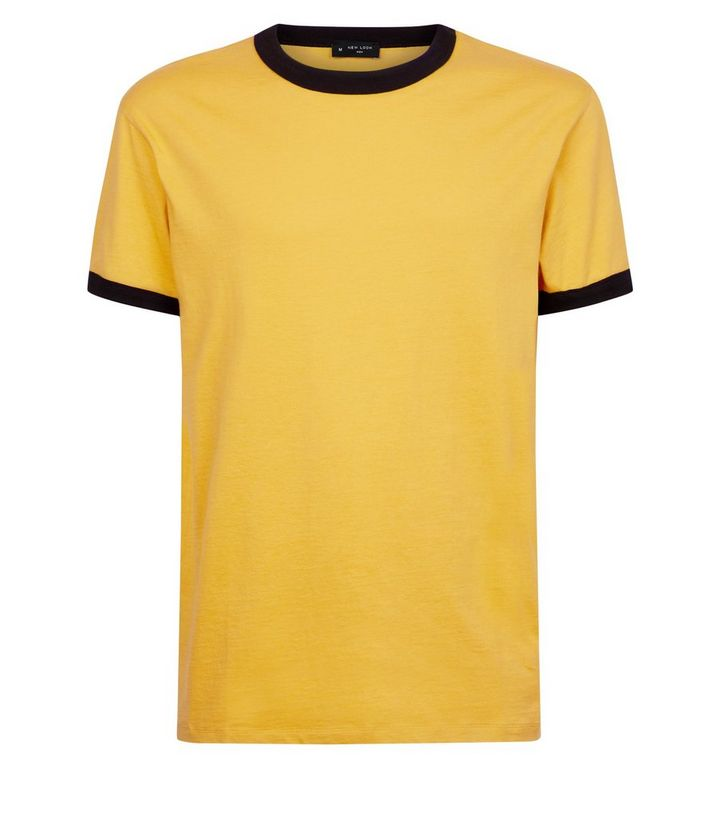 eada42eed24 Yellow Ringer Trim T-Shirt