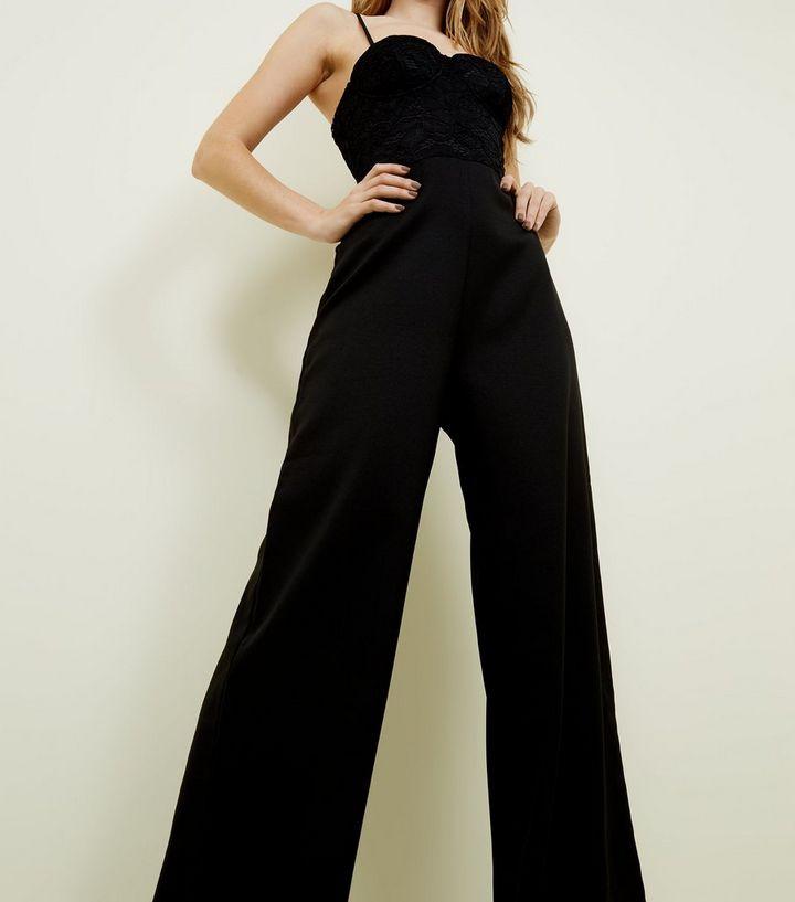 b41cea299a24 ... Black Lace Bustier Jumpsuit. ×. ×. ×. Shop the look