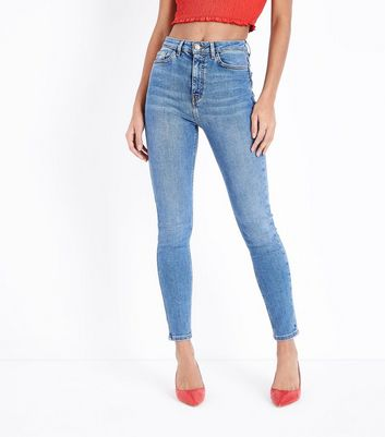 Blue High Rise Skinny Dahlia Jeans New Look