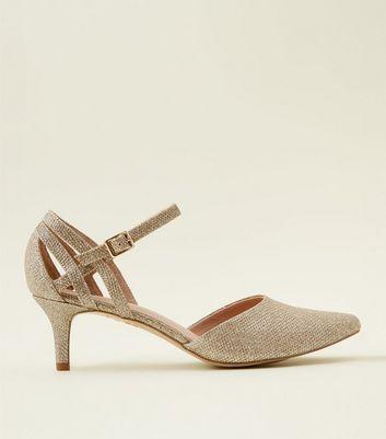 Wide Fit Gold Comfort Flex Glitter