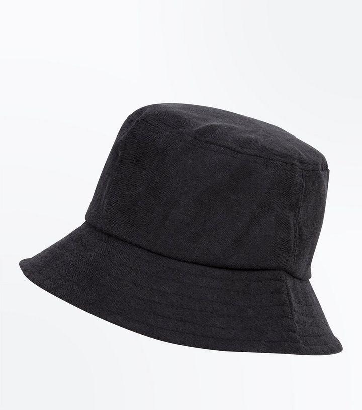 Black Bucket Hat   New Look
