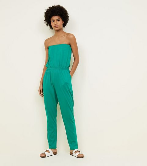 55cc429dbd8 Green Jersey Bandeau Jumpsuit · Green Jersey Bandeau Jumpsuit ...