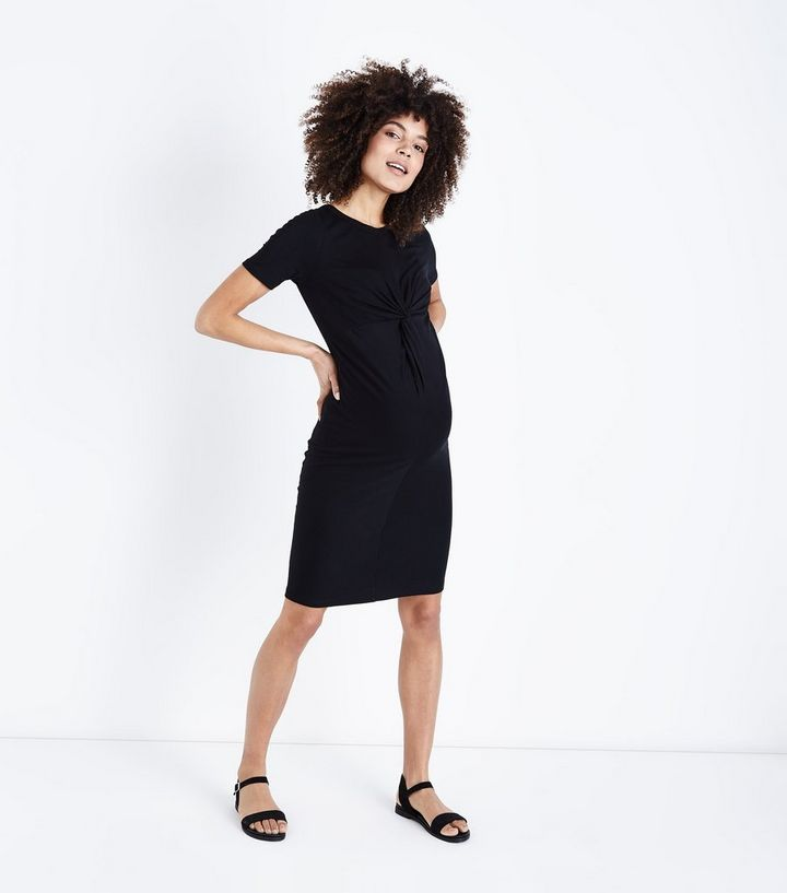 0891ad0acef7a ... Maternity Black Twist Front Bodycon Dress. ×. ×. ×. Shop the look