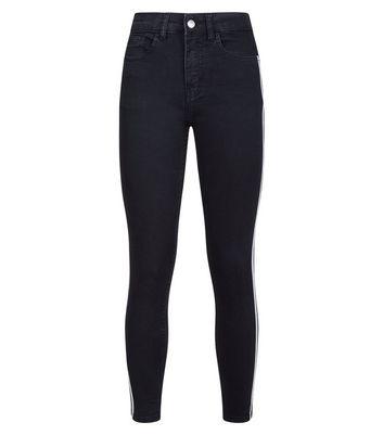 Innocence Black Stripe Side Jeans New Look