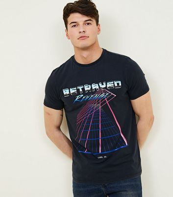 Black Slogan Betrayed Washed Graphic T-Shirt