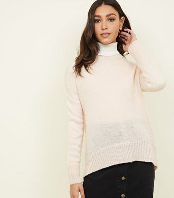 Pale Pink Drop Sleeve Jumper