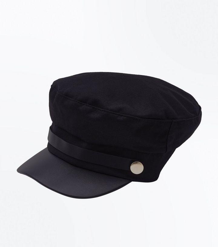 a0b7eaf3 Black Military Baker Boy Hat | New Look