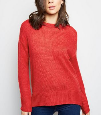 Red Longline Jumper