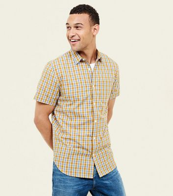 Mustard Check Short Sleeve Shirt