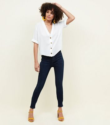 Tall Blue High Waist Super Skinny Jeans