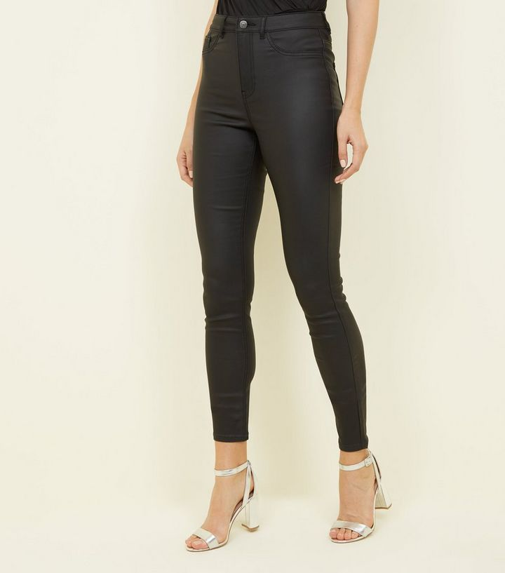 e7a900ce1ecc6 ... Tall Black Coated High Waist Super Skinny Jeans. ×. ×. ×. Shop the look