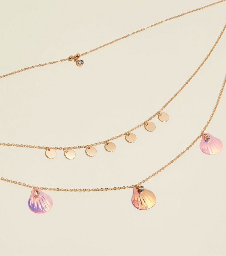 27efb347111 Multicoloured Sequin and Shell Pendant Necklace