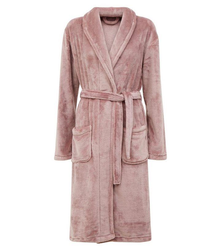 Robe De Chambre Longue Violette Douce New Look