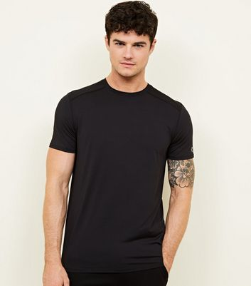 Black Sports Stretch T-Shirt