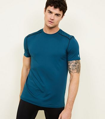 Bright Blue Sports Stretch T-Shirt