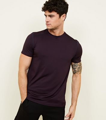 Dark Purple Sports Stretch T-Shirt