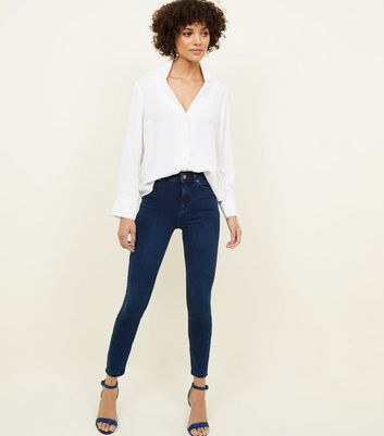 Navy Premium High Rise 'Lift & Shape' Jeans