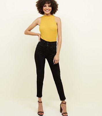"Schwarze ""Lift & Shape"" High Waist Skinny Jeans"