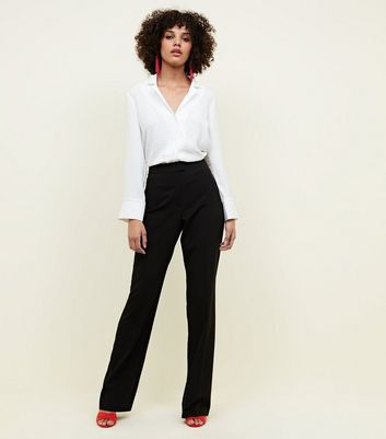 Tall Black Bootcut Trousers
