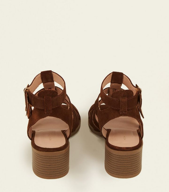 419ef05bf8bc ... Tan Suede Low Block Heel Gladiator Sandals. ×. ×. ×. Shop the look