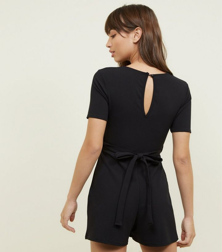 3838f8adc5f ... Black Eyelet Front Tie Playsuit. ×. ×. ×. Shop the look