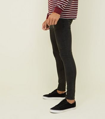 Dark Grey Super Skinny Stretch Jeans Add to Saved Items Remove from Saved Items