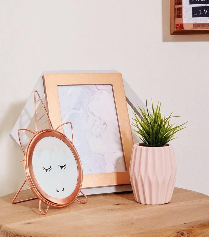 Rose Gold Unicorn Frame | New Look
