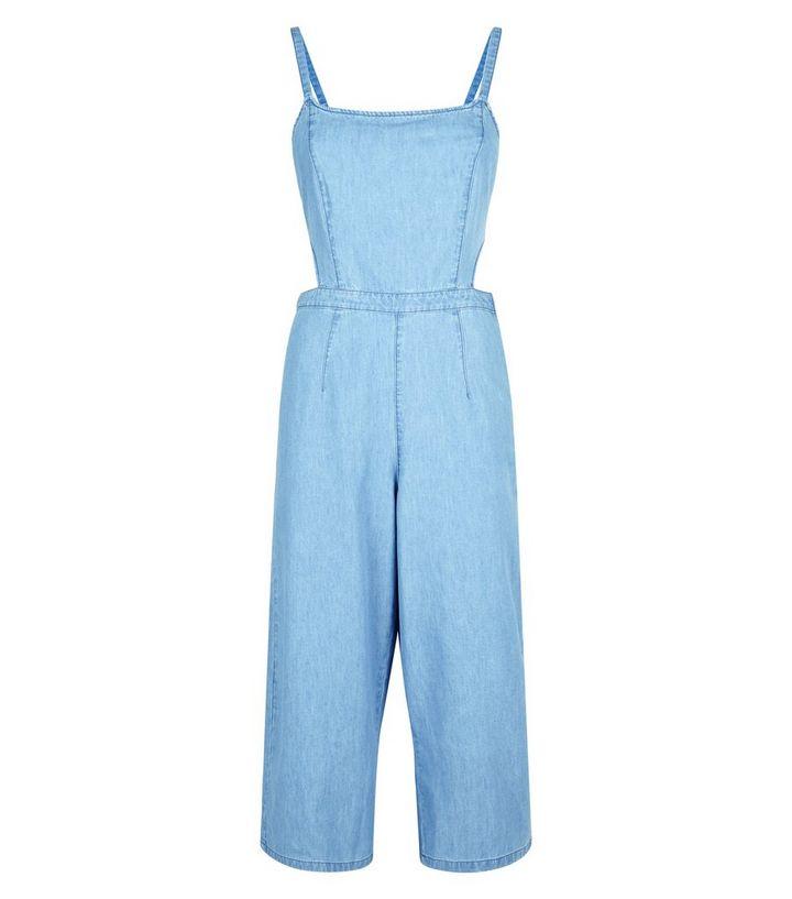 c2523c54da7 ... Petite Blue Tie Back Lightweight Denim Jumpsuit. ×. ×. ×. Shop the look