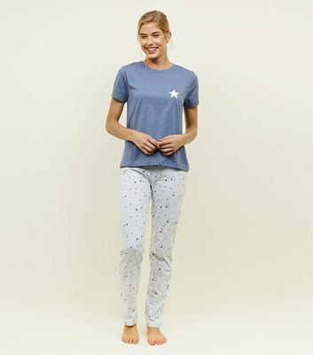 Blue Star Print Pyjama Set